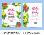 invitations with tropical... | Shutterstock .eps vector #1649393608