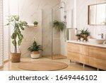 Stylish Bathroom Interior With...