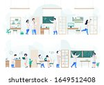 people in laboratory conducting ...   Shutterstock .eps vector #1649512408