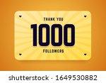 1000 followers vector... | Shutterstock .eps vector #1649530882