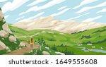 active tourist woman walking on ...   Shutterstock .eps vector #1649555608