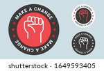 make a change insignia stamp.... | Shutterstock .eps vector #1649593405