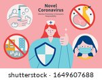 ways to avoid infection...   Shutterstock .eps vector #1649607688
