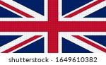 united kingdom flag vector ... | Shutterstock .eps vector #1649610382