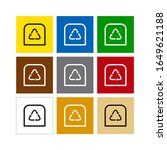recycling container of...   Shutterstock .eps vector #1649621188