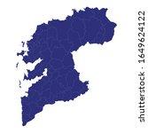 high quality map of pontevedra...   Shutterstock .eps vector #1649624122