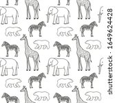 seamless pattern with elephant  ... | Shutterstock .eps vector #1649624428