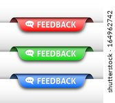 vector feedback labels or tags... | Shutterstock .eps vector #164962742