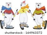 polar bears   Shutterstock .eps vector #164963372