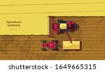 agriculture machinery. top view ... | Shutterstock .eps vector #1649665315