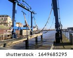 A Boat Crane At The Harbour In...