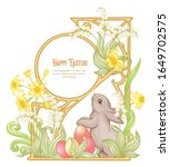 Happy Easter Template Postcard  ...