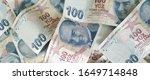 turkish liras. 100 tl turkish... | Shutterstock . vector #1649714848