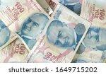 turkish liras. 100 tl turkish... | Shutterstock . vector #1649715202