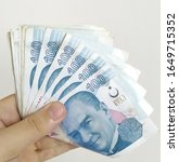 turkish liras. 100 tl turkish... | Shutterstock . vector #1649715352