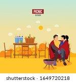 couple man woman tourists... | Shutterstock .eps vector #1649720218
