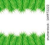 christmas frame of fir branches | Shutterstock .eps vector #164972222