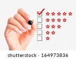 high rating concept | Shutterstock . vector #164973836