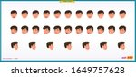 set of male facial emotions....   Shutterstock .eps vector #1649757628