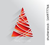 abstract christmas tree... | Shutterstock . vector #164977766