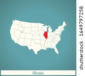 vector map of the illinois | Shutterstock .eps vector #1649797258