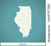 vector map of the illinois | Shutterstock .eps vector #1649797285