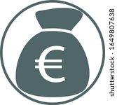 euro money bag icon. vector... | Shutterstock .eps vector #1649807638