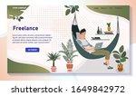 freelancer working from home ...   Shutterstock .eps vector #1649842972