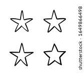 hand drawn stars  doodle star... | Shutterstock .eps vector #1649866498