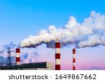 Factory Chimneys Pollute The...