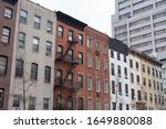 Row of Colorful Old Buildings in Kips Bay New York City