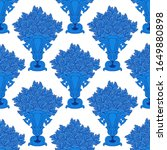 Pattern With Vintage Vases Wit...