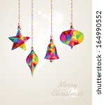 christmas holiday hanging... | Shutterstock .eps vector #164990552