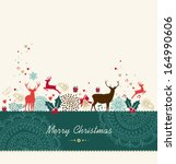merry christmas card background ... | Shutterstock .eps vector #164990606