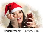 Beautiful Christmas Girl With...