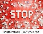 no sugar. diabetes and... | Shutterstock . vector #1649936755
