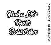 hand drawn lettering set for...   Shutterstock .eps vector #1649938162