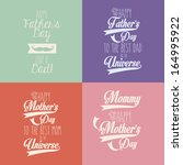 happy mothers and fathers day... | Shutterstock .eps vector #164995922