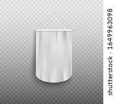blank white pennant banner with ... | Shutterstock .eps vector #1649963098