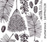 hand drawn dates leaves  fresh... | Shutterstock .eps vector #1649963128