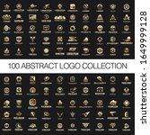 100 abstract logo designs... | Shutterstock .eps vector #1649999128