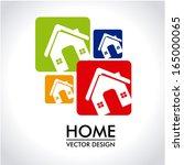 home design over gray... | Shutterstock .eps vector #165000065