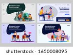 young couple practicing... | Shutterstock .eps vector #1650008095