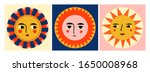 colorful abstract suns with... | Shutterstock .eps vector #1650008968