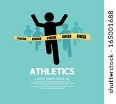 silhouette runner at finish... | Shutterstock .eps vector #165001688