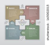 square arrows infographic    Shutterstock .eps vector #165002015