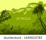 vector jungle background with... | Shutterstock .eps vector #1650023785