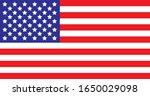 american flag vector american... | Shutterstock .eps vector #1650029098