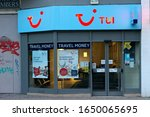 SHEFFIELD, UK - AUGUST 7, 2018: Tui Travel agents shop in the city center, selling cruises and holiday packages. - stock photo