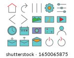 user interface icon set  ...